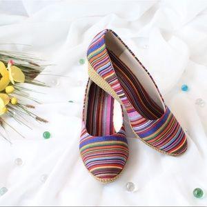 Shoes - Beacon Boho Colorful Wedge Espadrilles Size 6.5
